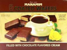 Kosher Manamim Coated Wafers Filled With Chocolate Cream 14.1 oz.